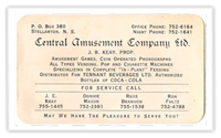 Business Card c.1950